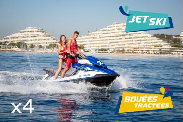 Pack Jet Ski et Bouée pour 4 personnes